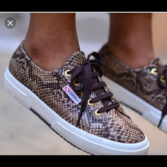 Superga Shoes   Superga Snake Print